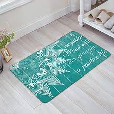 badezimmer vorleger matten non slip door mat boho mandala
