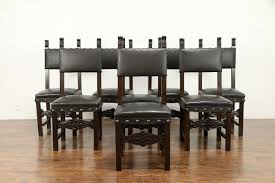 Antique Walnut Dining Table And Chairs Room Set Black ...