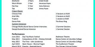 Dance Resume Example For An Audition Design And Ideas Page 0
