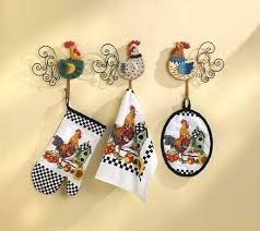 Country Rooster Kitchen Set Oven Mitt Towel Pot Holder