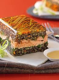 cuisine des lentilles terrine de lentilles vertes au saumon gourmand recettes de cuisine