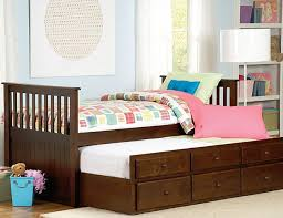Zachary Twin Twin Trundle Bed with Drawers by Home Elegance