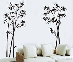 großhandel 90 60 cm bambus wandaufkleber bambus hintergrund wand vogel bambus dekorative wand das wohnzimmer schlafzimmer studie dekorative