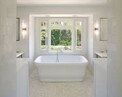 white subway tile and marble houzz