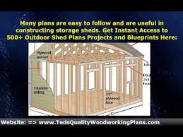wood storage shed building plans diy youtube