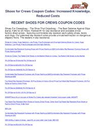 Shoes-for-crews-coupon-codes By Ben Olsen - Issuu Shoes For Crews Slip Resistant Work Boots Men Boot Loafer Snekers Models I Koton Lotto Mens Vertigo Running Victorinox Promo Code Promo For Busch Gardens Skechers Performance Gowalk Gogolf Gorun Gotrain Crews Store Ruth Chris Barrington Menu Buy Online From Vim The Best Jeans And Sneaker Stores Crues Walmart Baby Coupons Crewsmens Shoes Outlet Sale Discounts Talever Coupon Codelatest Discount Jennie Black 7 Uk Womens Courtshoes 2018 Factory Outlets Of Lake George Coupons