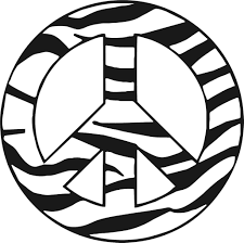 Peace And Zebra Colouring Pages