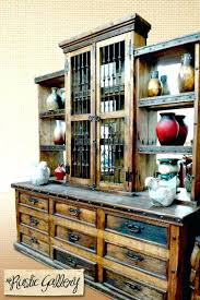 Rustic Buffets And Hutches Large Dining Room Hutch Wood