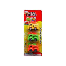 96 Units Of Three Piece Cartoon Mini Fire Truck Set - Cars, Planes ...