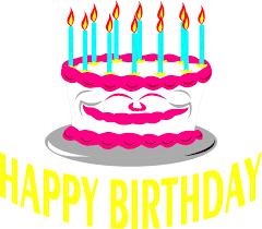 birthday cake text symbols