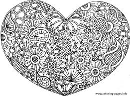 Printable Heart Mandala Coloring Page With Pages Ideas Gallery Free