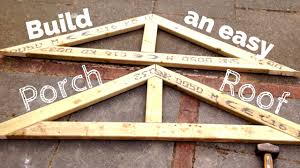 diy porch roof building a simple pitched roof step by step youtube