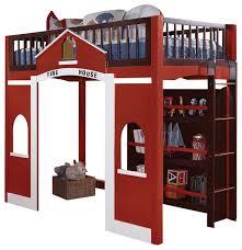 modern stylish espresso red twin loft bed built in ladder storage