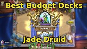 Hearthstone Decks Druid Combo by Best Budget Hearthstone Decks Jade Druid Youtube
