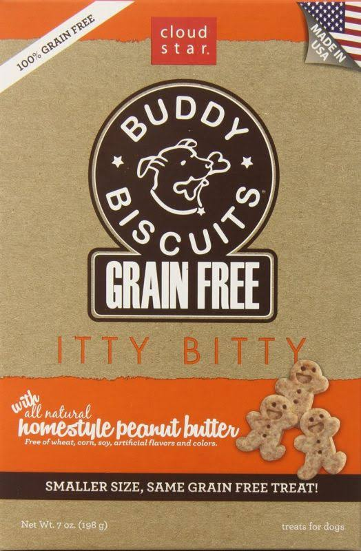 Cloud Star Itty Bitty Buddy Biscuits - Peanut Butter, 196g