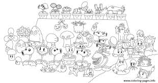 Plants Zombies Coloring Pages Chomper Pvz All Line Art 108751 Vs Print Download