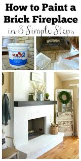 Painted Fireplace Painting Hearth Tiles Rock Makeover Mantel Grey