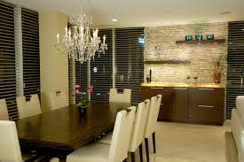 Splashy Floating Shelves Vogue Louisville Contemporary Dining Room Image Ideas With Backlighting Bar Ceiling Lighting Chandelier