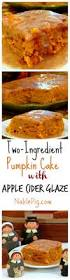 Pumpkin And Cake Mix Muffins Weight Watchers by Two Ingredient Pumpkin Cake With Apple Cider Glaze Noble Pig
