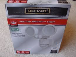 Defiant LED 180 Degree White Motion Activated Outdoor Flood Light F1 ...