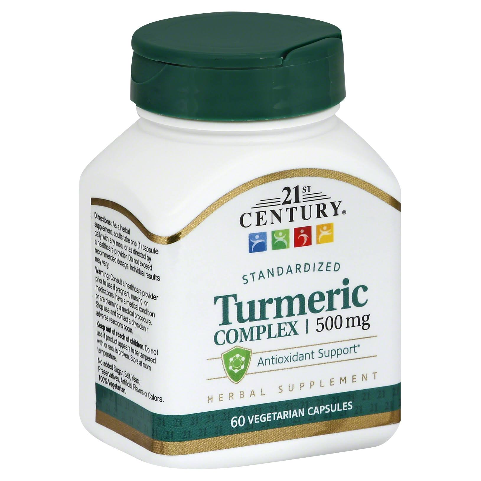 21st Century Turmeric Complex Dietary Supplement - 60 Vegetarian Capsules
