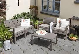 Keter Lounge Chairs Grey by Allibert By Keter Delano Outdoor 4 Seater Lounge Garden Furniture
