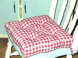 Buffalo Check Chair Cushions Seat For Kitchen Chairs Pads Pad Red Dining Buf Tufted Country