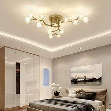 modern led deckenleuchte mattes gold metall und glas blume deckenle decken licht für wohnzimmer schlafzimmer küche esszimmer büro loft kronleuchter