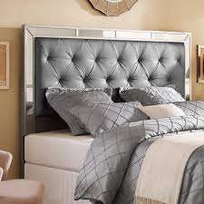 Roma Tufted Wingback Headboard Taupe Fullqueen by Bed Frames Upholstered Platform Bed Upholstered Bed Frame King