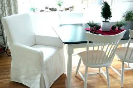 Dining Room Chair Slipcovers Excellent Covers Pottery Barn
