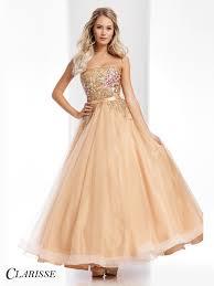 clarisse unique vintage gold floral ball gown style 3010 2017