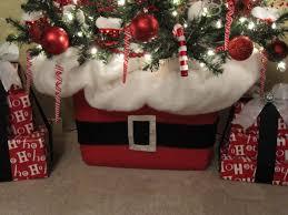 Saran Wrap Xmas Tree by Sew Many Ways Santa Claus Tree