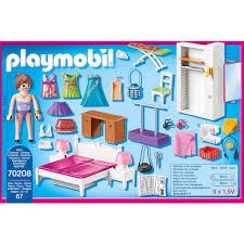 playmobil konstruktions spielset schlafzimmer mit nähecke 70208 dollhouse 67 st made in germany