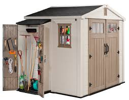 Keter Manor Resin Shed 4 X 6 by Keter Infinity 8 U0027 X 6 U0027 Storage Shed With Side Cabinet Bj U0027s