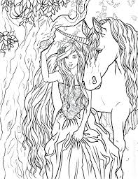 Unicorn Coloring Page Unicorns Pages For Adults Fairy And