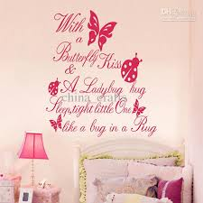 Kids Wall Decor Simple Room Butterfly Quotes Vinyl Stickers 55X60Cm Decorating Inspiration