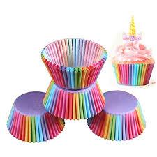 Brand New 200 X Rainbow Cupcake Cases Cake Baking Muffin Dessert Wedding Party