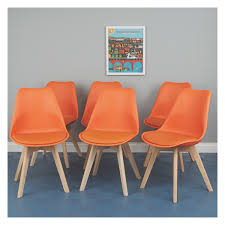 JERRY Set Of 6 Orange Dining Chairs | Buy Now At Habitat UK Unique Zeppelin Modern Orange Ding Chair All World Fniture Room Chairs Thrghout Ppare Dennisbiltcom These Will Convince You To Go Midcentury Mariette Set Of 2 Intercon Classic Oak 7piece Solid Pedestal Miniature Hutch Table Two Antique Etsy Kenneth Fabric Hot Orange Ding Room Set Schuhekeflyknitlunar3top Cattail Bungalow 96 Warm Amber Extendable Trestle With Chairs Design Ideas