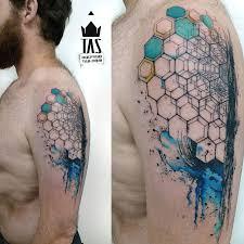 Abstract Hexagon Arm Tattoo