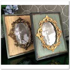 1pcs Vintage Picture Frames Rectangle Carved Retro Rustic Style