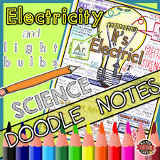 electric bulb doodle notes sheet electrical energy note sheet