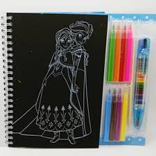 Ice Snow Queen Elsa Anna Drawing Toys Set Scratch Paper Coloring Book Blank Watercolor Pen Crayon Learning Education In From