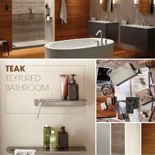 Teak Bathroom Shelving Unit by Teak Textured Bathroom Kohler Ideas