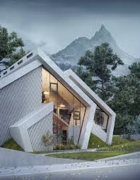 100 Mountain Home Architects The Concrete Pentahouse By Wamhouse Is Inspired The Shape