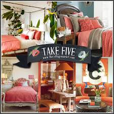 Coral Color Interior Design by Take Five Decorating With Coral And Salmon The Cottage Market