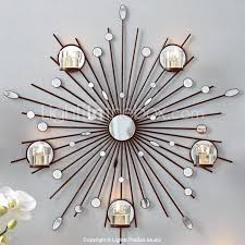 Metal Wall Art Decorthe Sun Mirror Candlestick Decor In Sunburst Renovation Architecture Mid Century