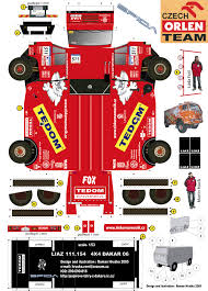 100 Trucks Paper New Craft Dakar 2006 Martin Macks LIAZ Truck Model