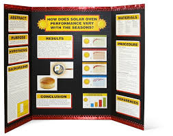 3 Sided Presentation Board Template Science Fair Project Display Tri Fold