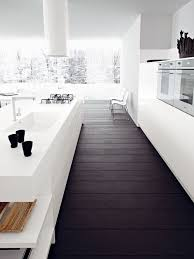 This Feels So Expansive And Much Like Our Own Chippmunk Kitchen With Dark Ebony Floors White