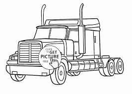 Semi Truck Coloring Pages Save Best Semi Trucks Coloring Pages – Fun ...